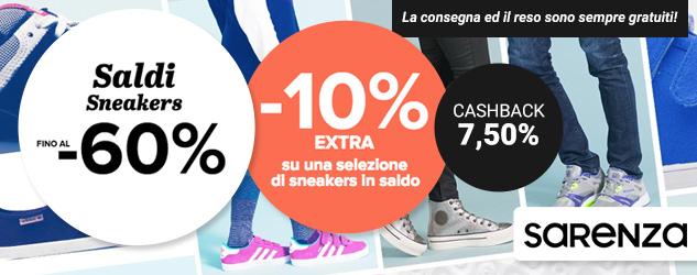 Sarenza: extra saldi sulle sneakers