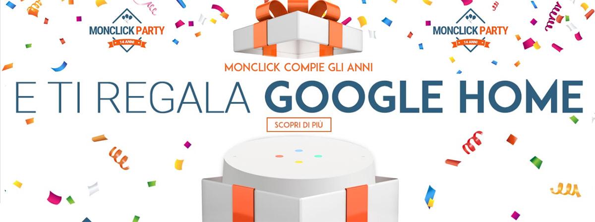 Monclick regala Google Home.